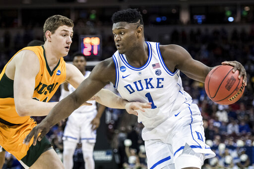 1665d9f97c6 NCAA Latest  Duke s Zion stacking up highlight reel pla ...