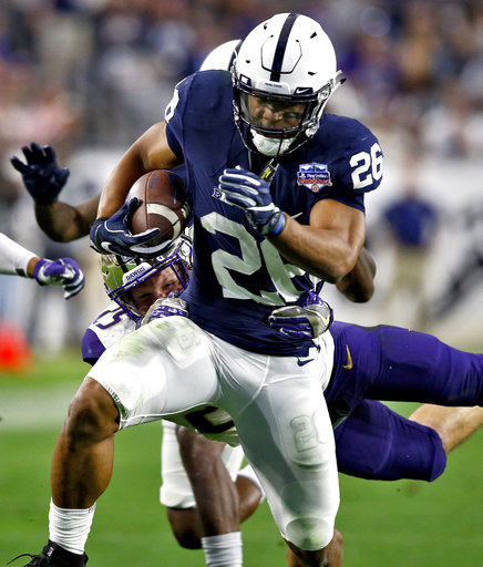 buy online a5c74 4690c Penn State running back Saquon Barkley entering NFL dra ...