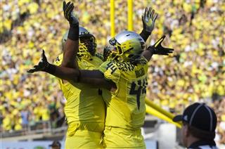 Oregon Ducks play Michigan State Spartans