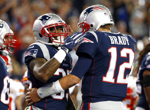 Mike Gillislee, Tom Brady