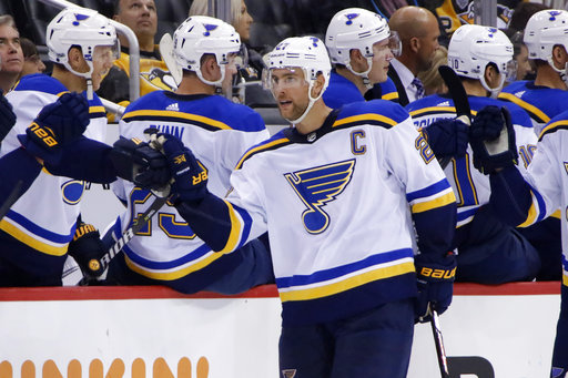 8d01fbe113b Pietrangelo gives Blues 5-4 overtime victory over Penguins