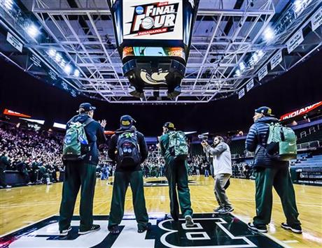 NCAA Michigan St Celebration Basketball