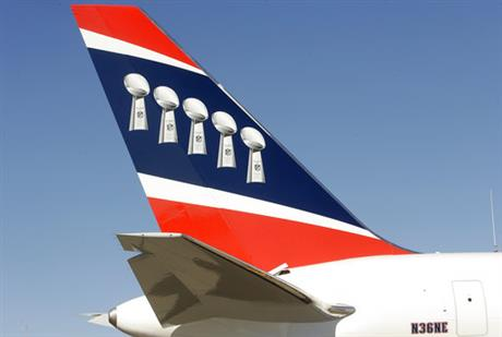 Patriots Airplane Football