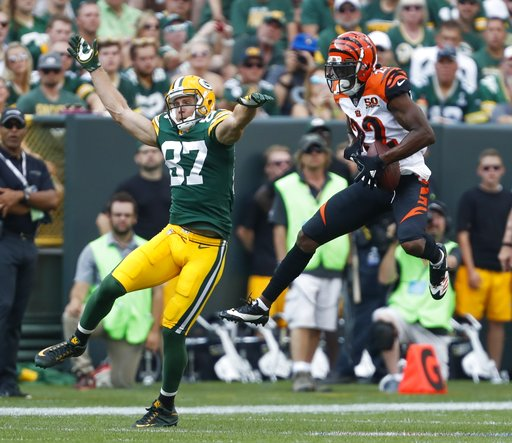 APTOPIX Bengals Packers Football