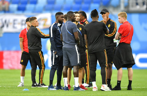 The Latest  Dembele replaces Meunier for Belgium in sem ... 5bff87938