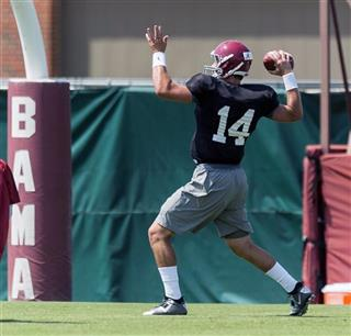 Alabama Football Fall Preseason Practice 11