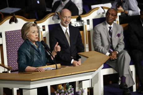for hillary clinton, church offers a trusted comfort zone | u.s.