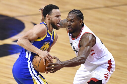 c9d641e368f The Latest: Warriors trying to hang on, lead entering 4th. share; tweet; +1.  By The Associated Press. Toronto Raptors forward Kawhi Leonard ...