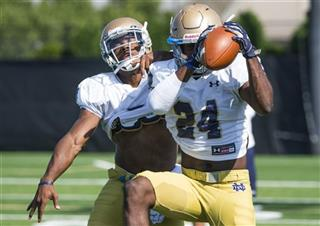 Notre Dame Practice Football