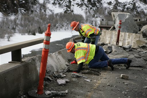 Colorado officials say traffic on a 24-mile stretch of
