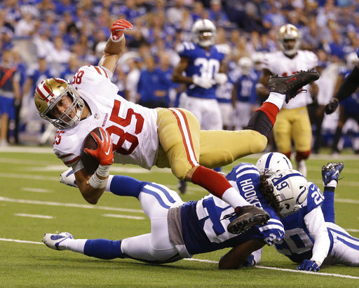 APTOPIX 49ers Colts Football