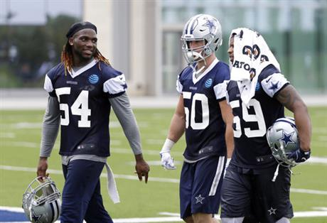 Jaylon Smith, Anthony Hitchens, Sean Lee