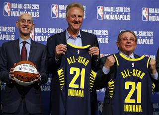 Adam Silver, Larry Bird, Herb Simon