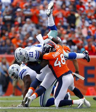 APTOPIX Cowboys Broncos Football