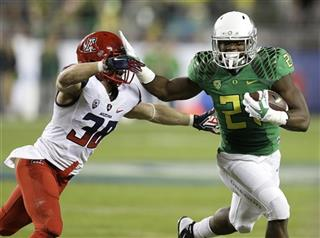 Royce Freeman, Jared Tevis