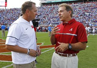 Hugh Freeze, Nick Saban
