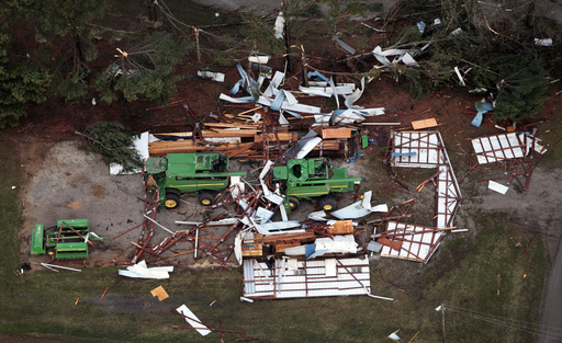 The Latest: Central Illinois twister packed 155 mph win
