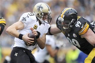 Brett Keisel, Drew Brees