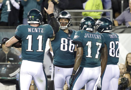 Zach Ertz, Carson Wentz, Alshon Jeffery, Torrey Smith