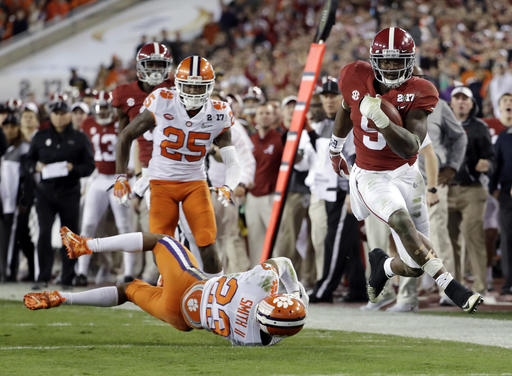 APTOPIX Playoff Championship Clemson Alabama Football