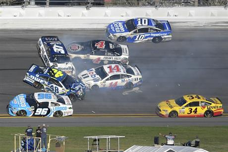 Jimmie Johnson, Clint Bowyer, Chris Buescher, Kevin Harvick, Danica Patrick, D.J. Kennington, Landon Cassill