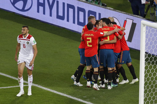 The Latest Spain Morocco Are 1 1 At Halftime In Group