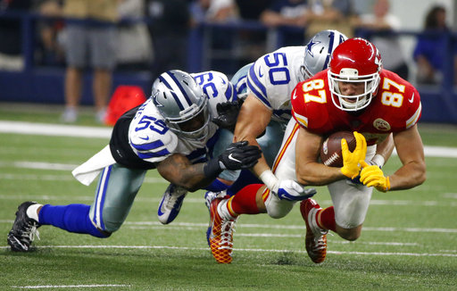 Sean Lee, Anthony Hitchens, Travis Kelce