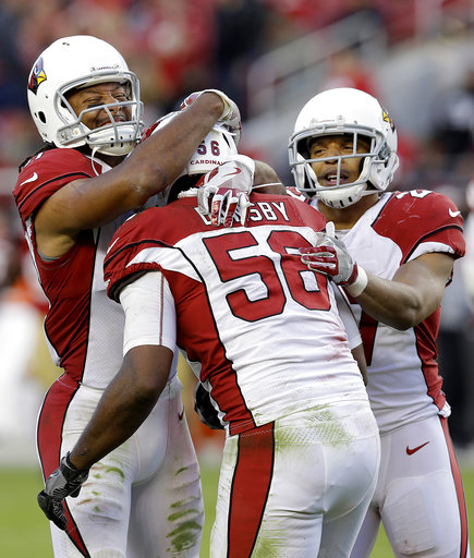 Karlos Dansby, Larry Fitzgerald, Tyvon Branch
