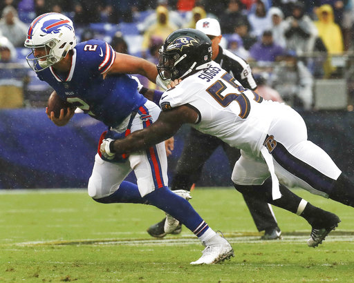 a63e1d9a05d The Latest  Josh Allen at QB after Bills bench Peterman ...