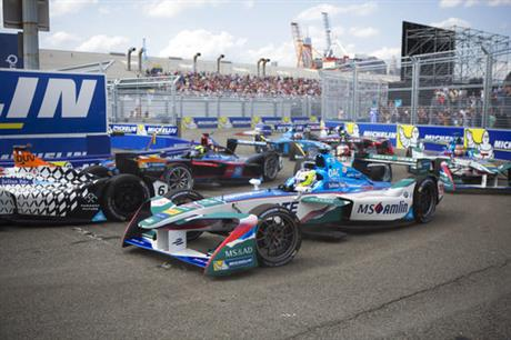 Formula E Cars Brooklyn Auto Racing