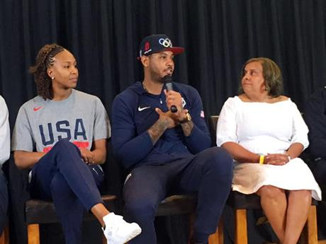 Carmelo Anthony, Tanika Catchings, Charisse Bremond Weaver