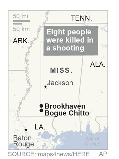 Police say 8 dead in Mississippi shooting | AccessWDUN com