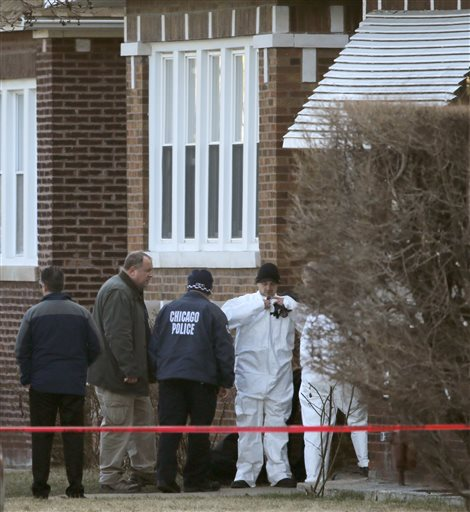 Chicago police have found the bodies of four men, one w