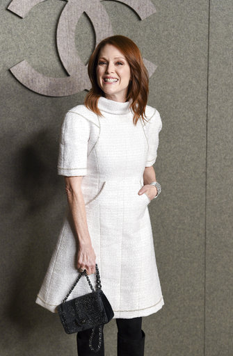 2dfc1307171 Actress Julianne Moore attends the Chanel Metiers D Art 2018 19 Show at the  Metropolitan Museum of Art on Tuesday