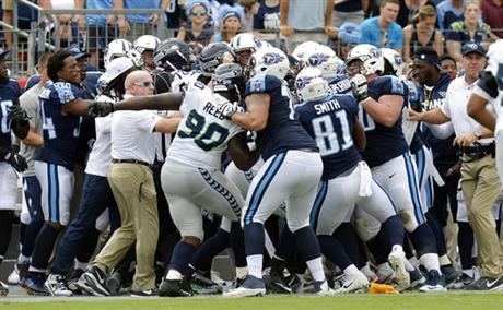 Seahawks Titans Football