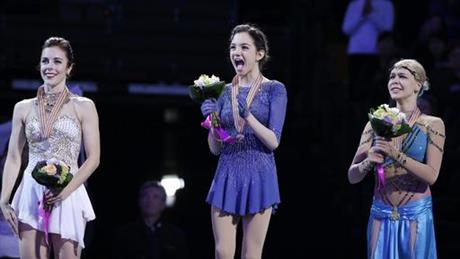 Ashley Wagner, Evgenia Medvedeva, Anna Pogorilaya