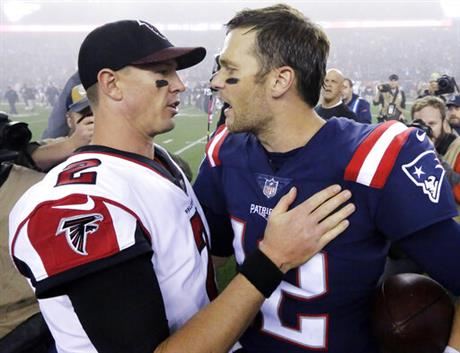 Matt Ryan, Tom Brady