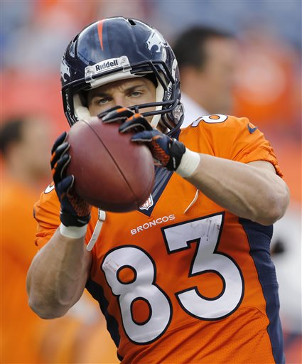 Denver Broncos wide receiver Wes Welker warms up prior to the Broncos    Wes Welker Broncos Wallpaper