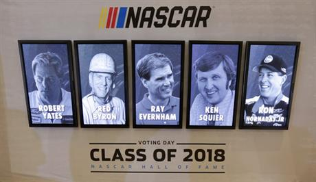 Robert Yates, Red Byron, Ray Evernham, Ken Squier, Ron Hornaday Jr